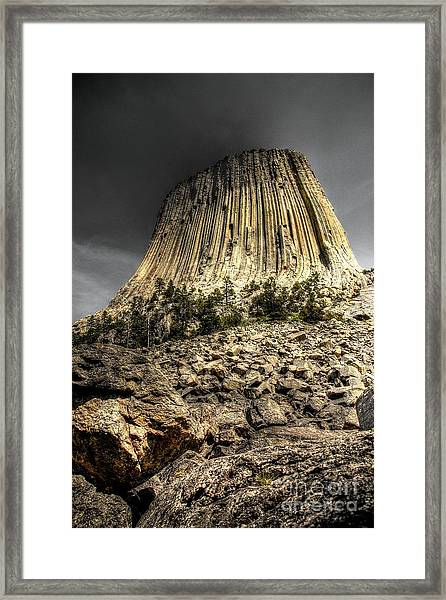 The Tower Of Boulders Framed Print