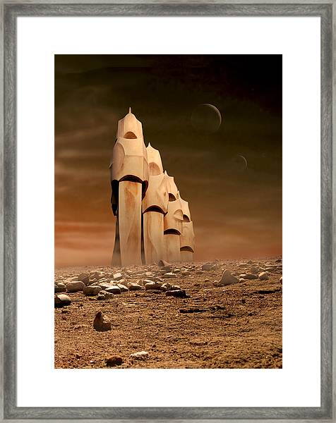 The Towers Of Icarus II Framed Print
