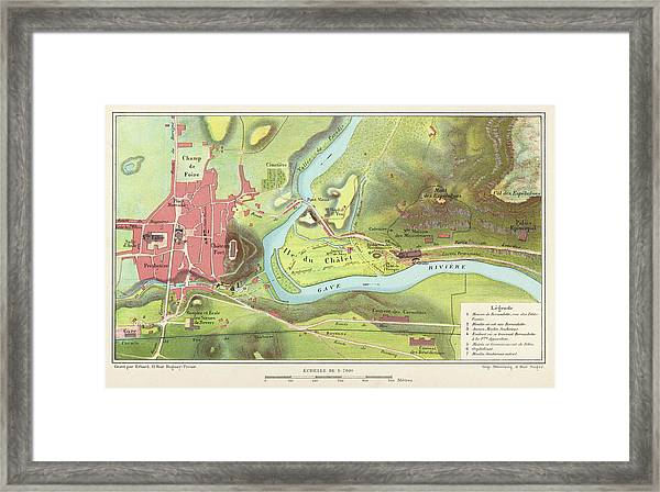 The Town In 1877 ; By Now Not  Only Framed Print