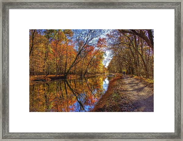 The Towpath Framed Print by Kathi Isserman