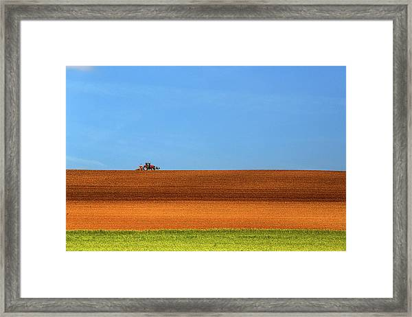 The Tractor Framed Print
