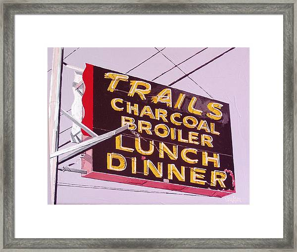 The Trails Framed Print by Paul Guyer
