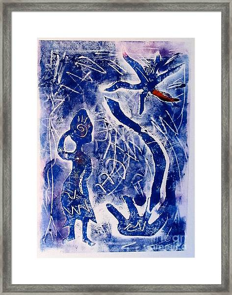 The Travelling Soul In Africa Framed Print