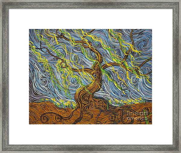 The Tree Have Eyes Framed Print