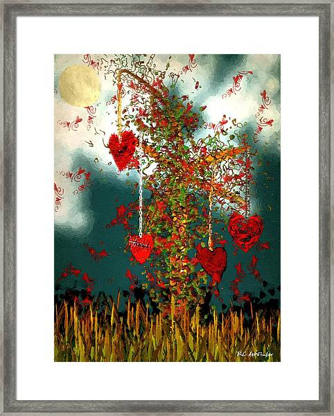 The Tree Of Hearts Framed Print