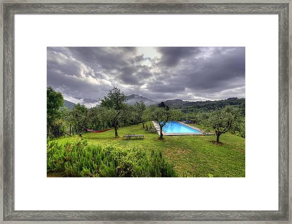 The Tuscan Villa Pool Framed Print