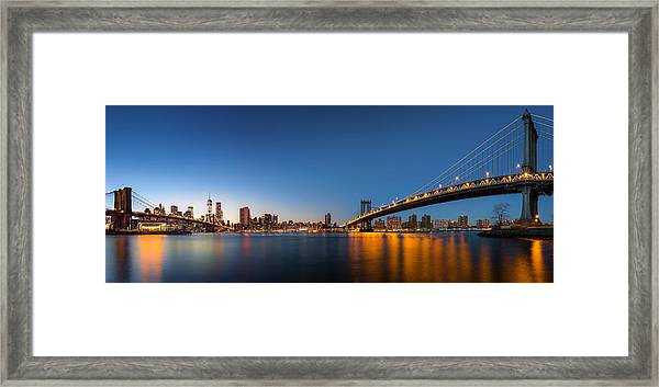 The Two Bridges Framed Print