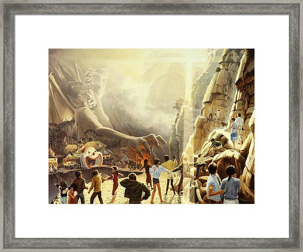 The Two Ways Framed Print