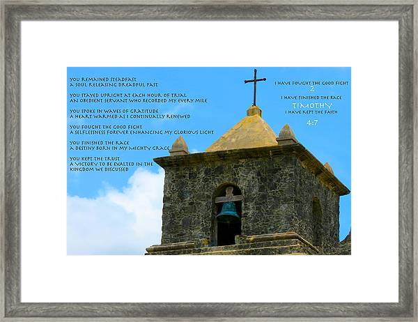 Fight The Fight Framed Print by David  Norman