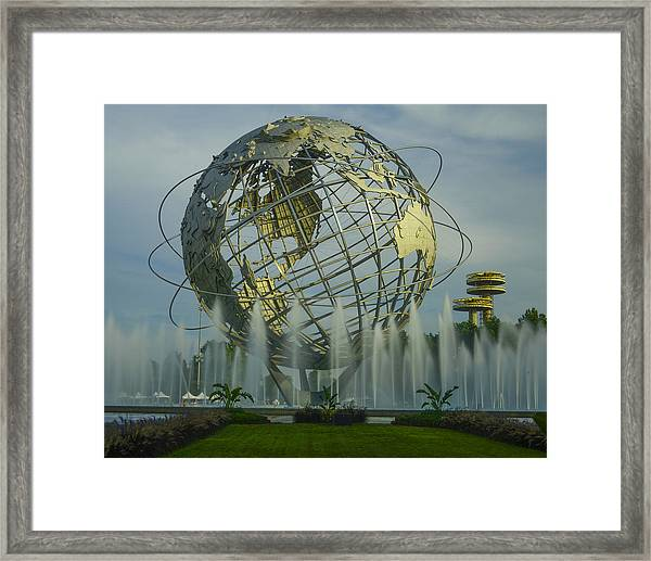 The Unisphere Framed Print