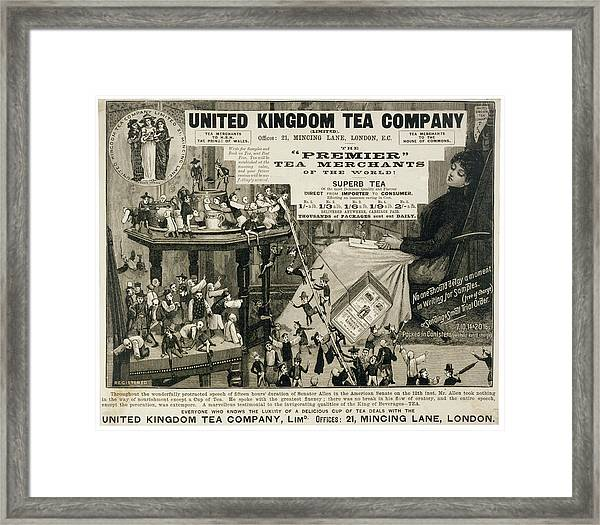 The United Forces Of Chinese,  English Framed Print
