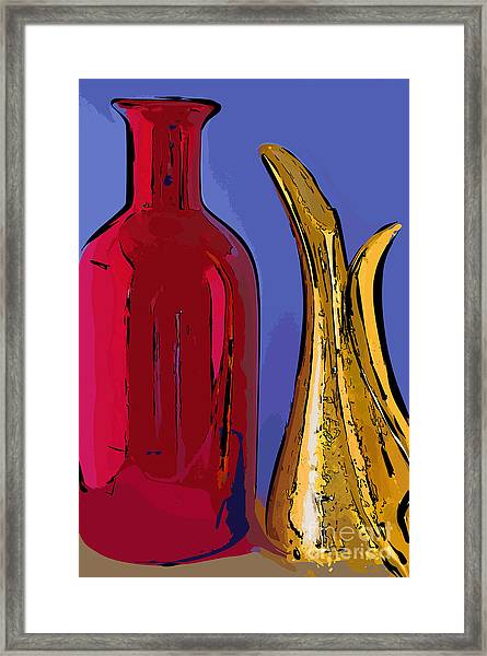 The Vase And Pitcher Framed Print