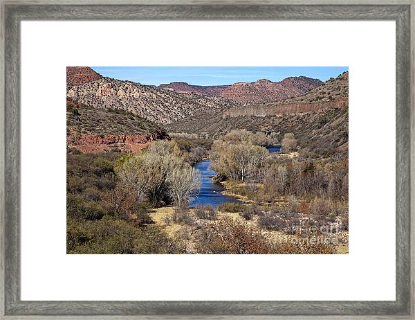 The Verde River In The Verde Canyon Arizona Framed Print