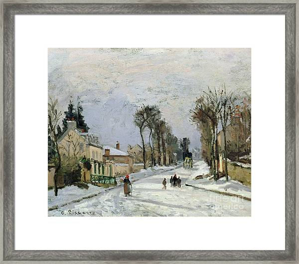 The Versailles Road At Louveciennes Framed Print