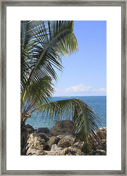 Framed Print featuring the photograph Key West Ocean View by Bob Slitzan