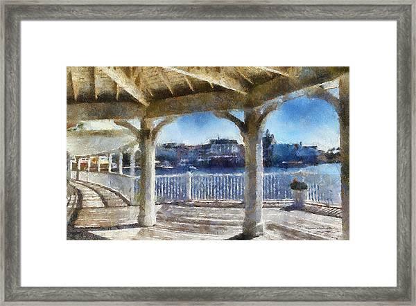 The View From The Boardwalk Gazebo Wdw 02 Photo Art Framed Print