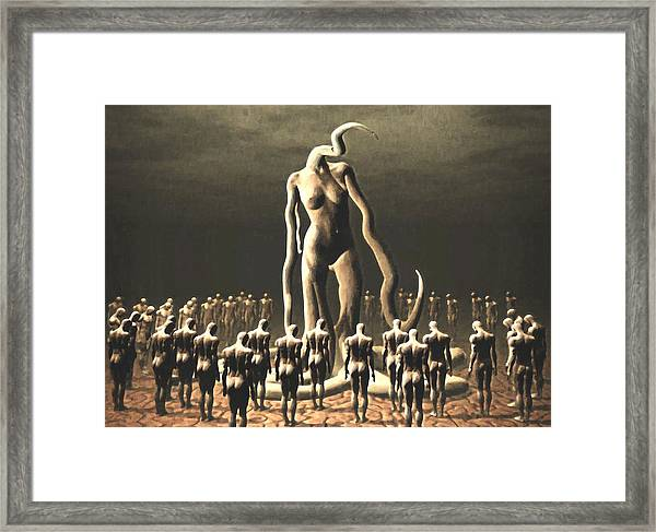 The Vile Goddess Framed Print