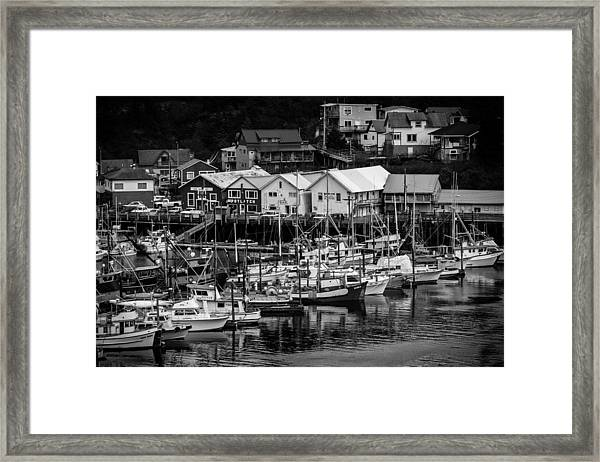 The Village Pier Framed Print