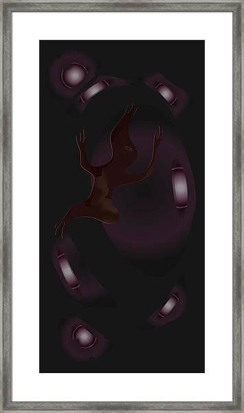 The Violet Void Framed Print
