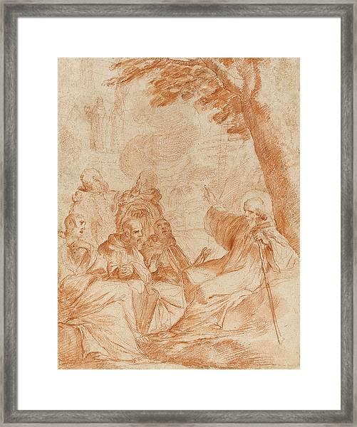 The Vision Of St. Romauld Framed Print
