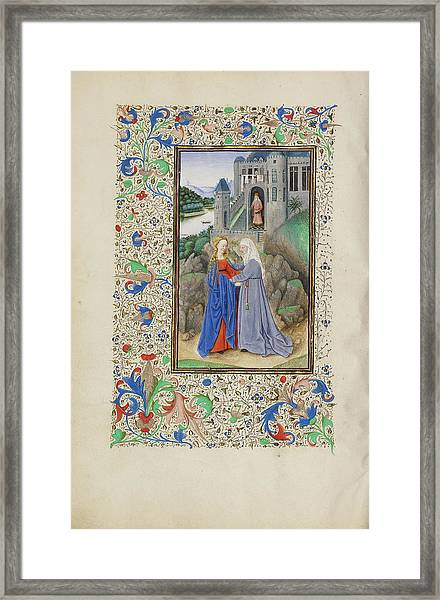 The Visitation Master Of The Llangattock Hours, Flemish Framed Print by Litz Collection
