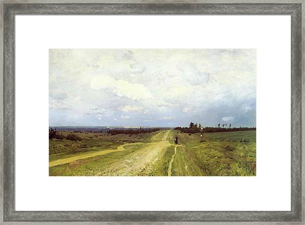 The Vladimirka Road Framed Print