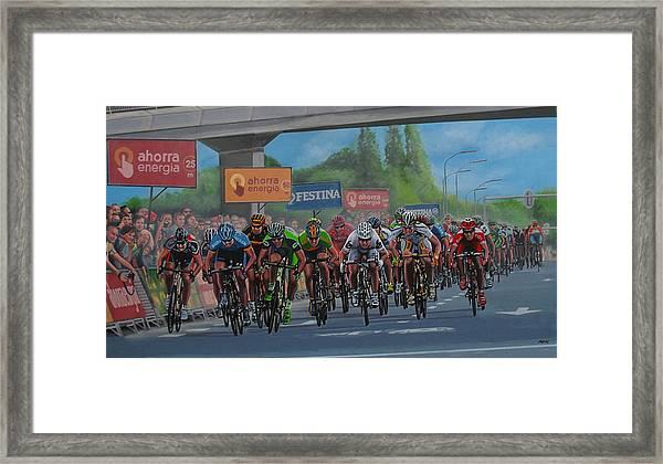 The Vuelta Framed Print