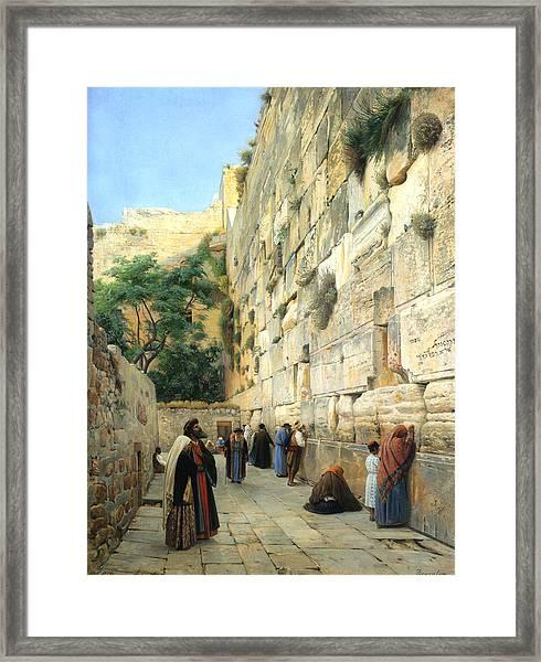 The Wailing Wall Jerusalem Framed Print