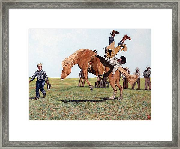 The Waiting Line Framed Print