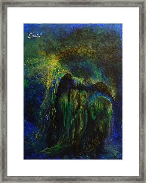 The Watchers At The Gate Framed Print