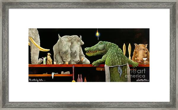 The Watering Hole... Framed Print