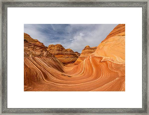Framed Print featuring the photograph The Wave by Dustin  LeFevre