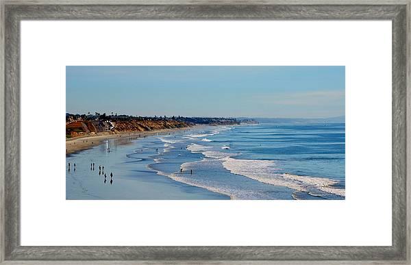 The Waves In Carlsbad Beach California  Framed Print