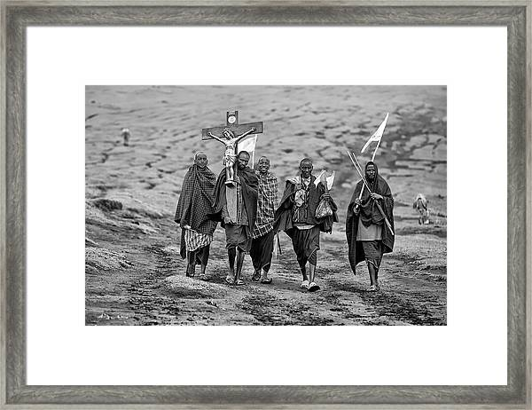 The Way Of The Cross Framed Print