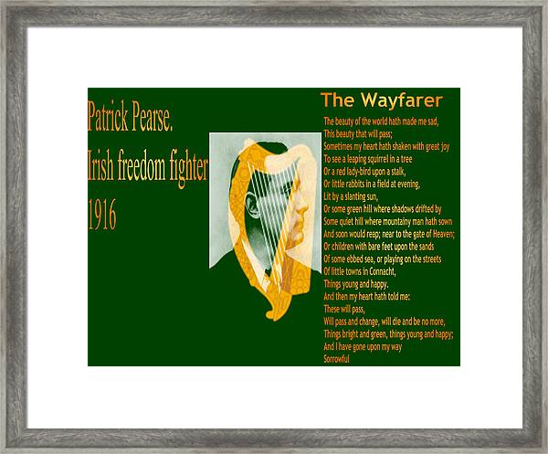 The Wayfarer Framed Print