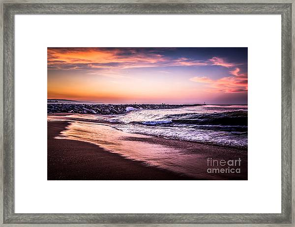 The Wedge Newport Beach California Picture Framed Print by Paul Velgos