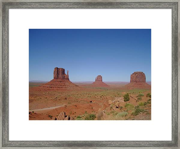 The West Framed Print by Valerie Howell