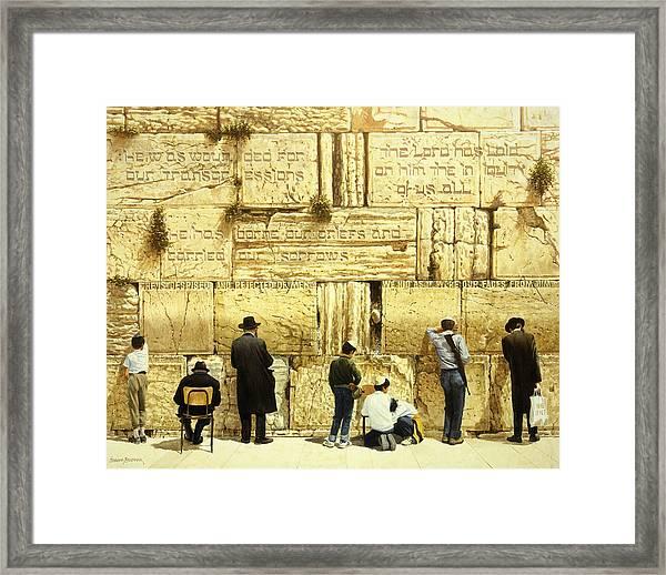 The Western Wall  Jerusalem Framed Print