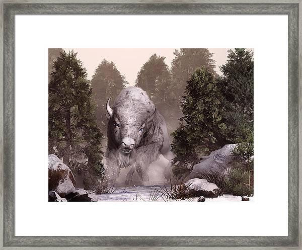 The White Buffalo Framed Print
