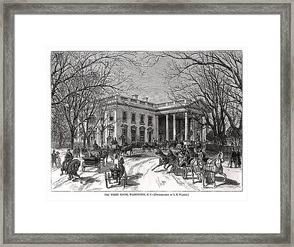 The White House 1877 Framed Print by Charles Somerville