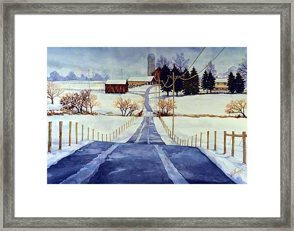 The White Season Framed Print