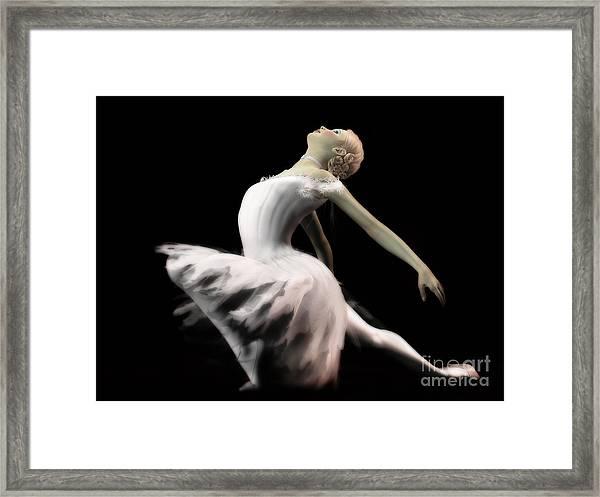 The White Swan - Ballerina Framed Print