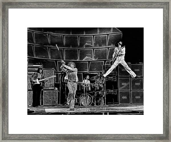 The Who - A Pencil Study - Designed By Doc Braham Framed Print