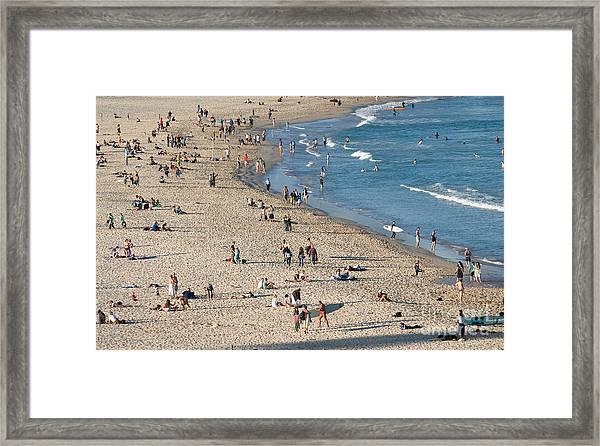 The Wide Sweep Of Bondi Beach - Sydney - Australia Framed Print