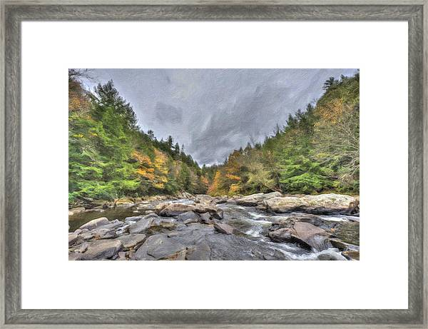 The Wild River Oil Painting Framed Print