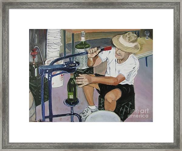 The Wine Maker Framed Print