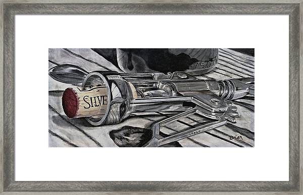 The Wine Master's Touch Framed Print