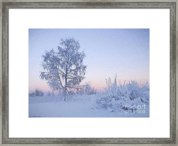 The Winter Light Framed Print