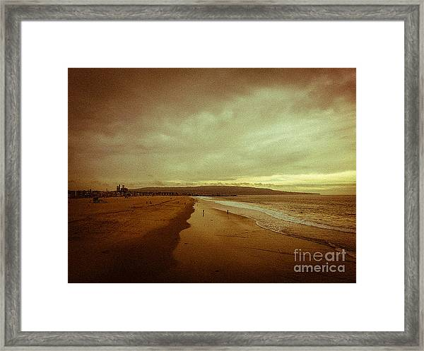 The Winter Pacific Framed Print