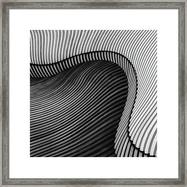 The Wood Project II - Sea Shore Framed Print